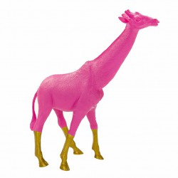 Girafe rose et or