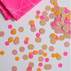 Confettis de table pop fluo