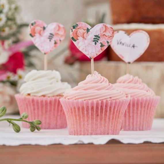 Pics coeur pour cupcake