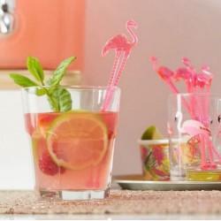 Agitateur a boisson flamant rose