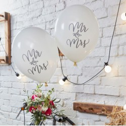 Ballons mariage Mr & Mrs (par 10)