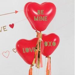 Kit glitter ballon geant coeur (par 8)