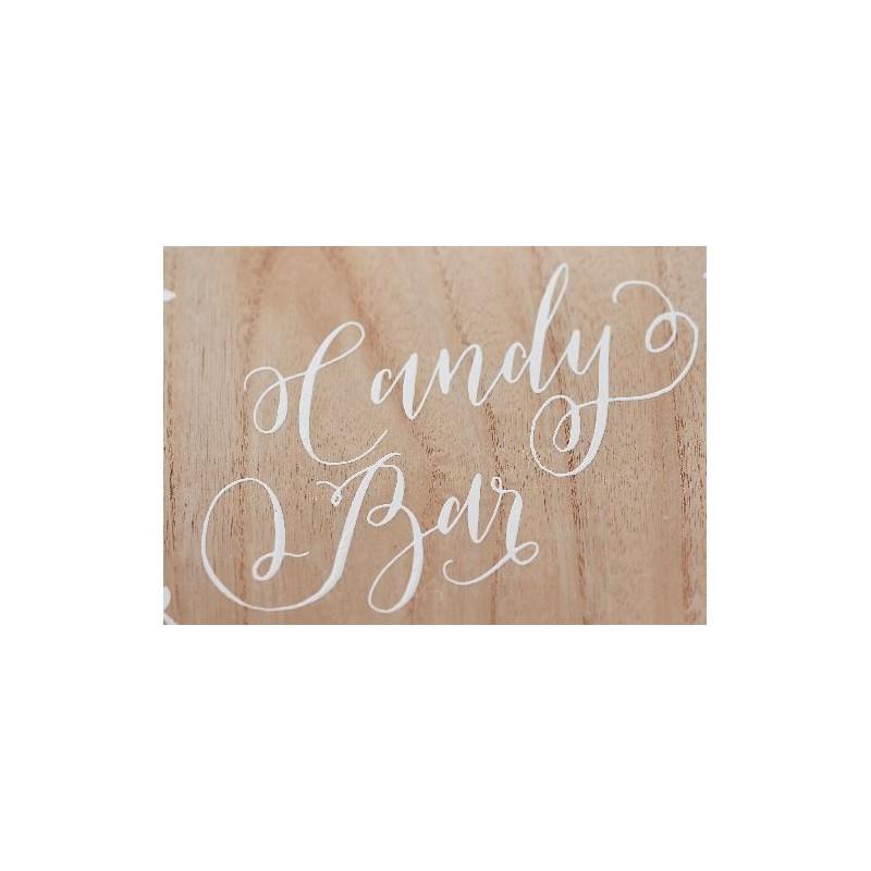 Pancarte bois Candy Bar Modern Confetti # Pancarte En Bois Personnalisée