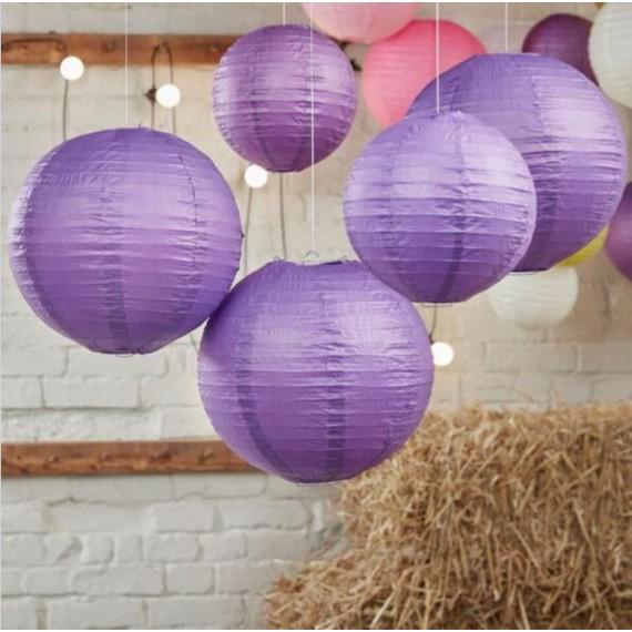 Lot de lanternes - violet (par 5)