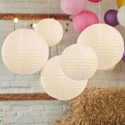 Lot de lanternes - ivoire (par 5)