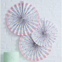 Rosace blanche motif confettis (par 3)