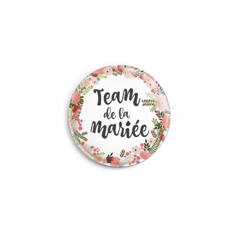 badges mariage et evjf team mari e boh me par 4 modern confetti. Black Bedroom Furniture Sets. Home Design Ideas