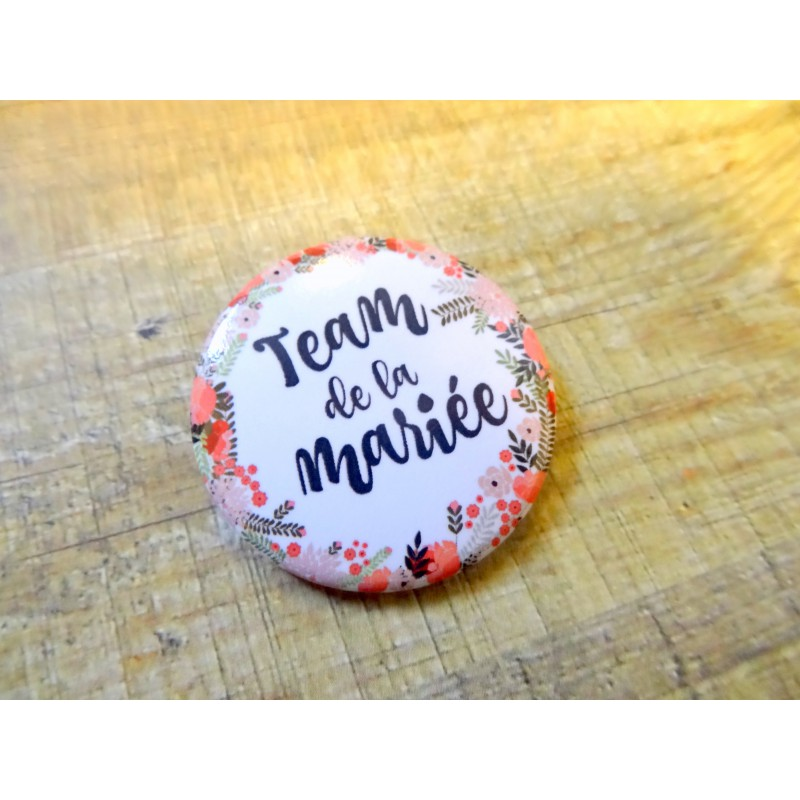 badges mariage et evjf team mari e boh me par 4. Black Bedroom Furniture Sets. Home Design Ideas
