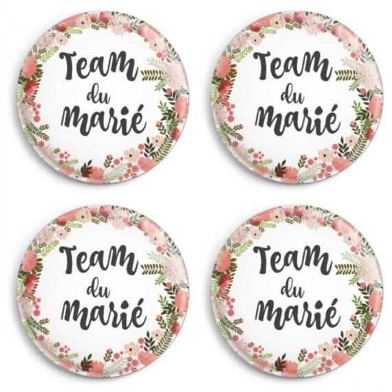 Badges mariage et EVJH - team du marié bohème (par 4)
