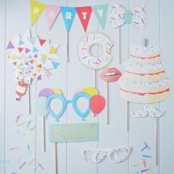 Photobooth anniversaire (10 accessoires)