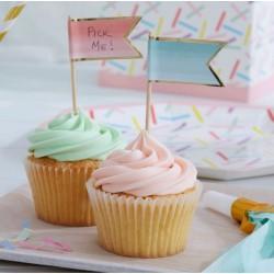 Fanions pour cupcakes (par 10)
