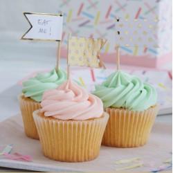 Drapeaux pour cupcakes (par 10)