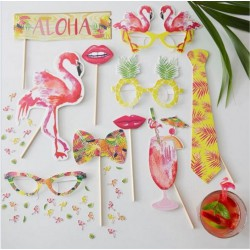 Accessoires photobooth tropical fiesta