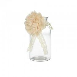 Vase bouteille retro avec fleur