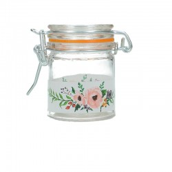 Mini bocal motif floral