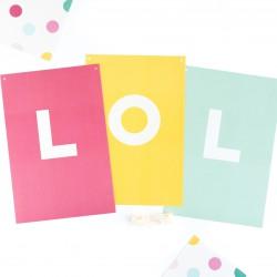 Guirlande lettres multicolores