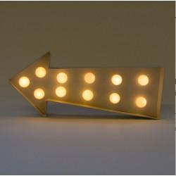 Enseigne LED flèche