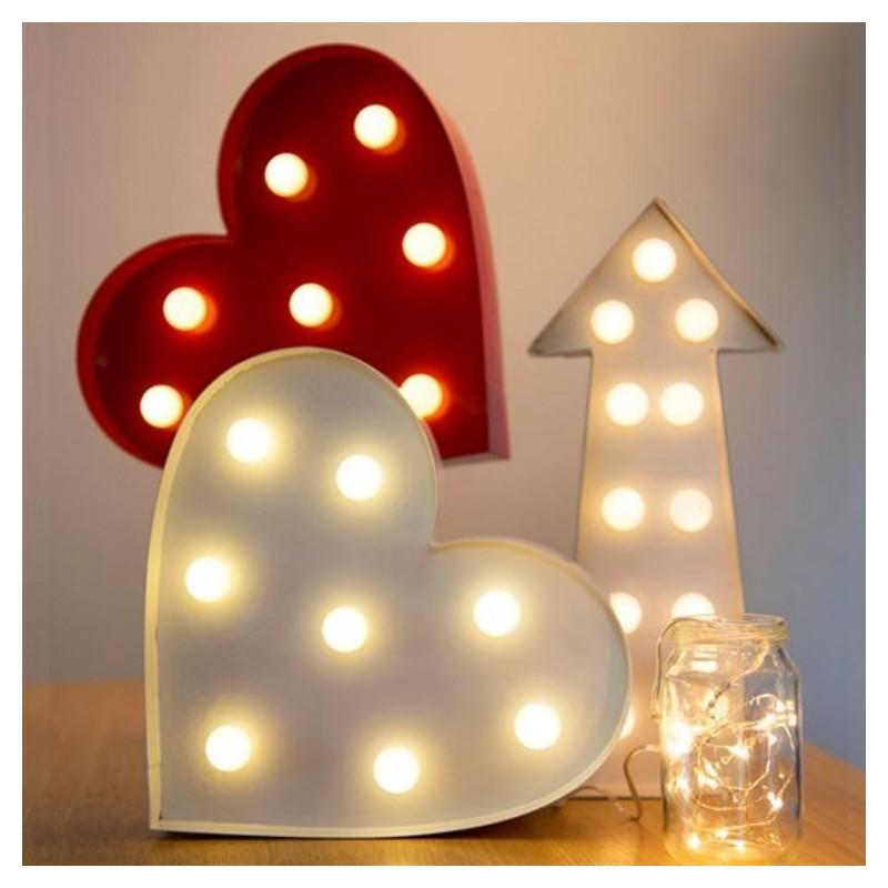 Enseigne Led Coeur Modern Confetti