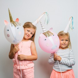 Kit ballons licorne (par 4)