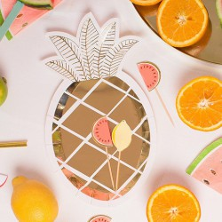 Assiettes ananas doré (par 8)