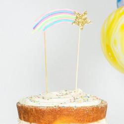 Cake topper étoile filante