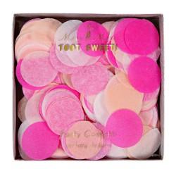Confettis ronds - rose