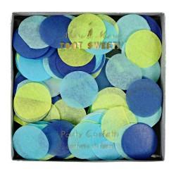Confettis ronds - bleu