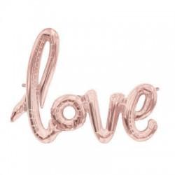 Ballon Love rose gold - 1 mètre