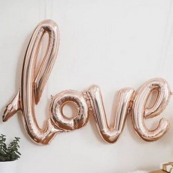 Ballon Love rose gold