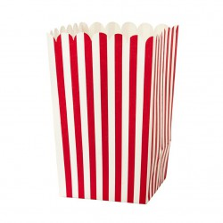 Boites pop corn - rouge et blanche (par 4)