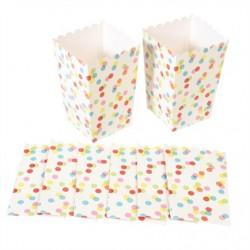 Mini boites pop corn motif confetti
