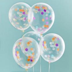 Ballons confettis (par 5)