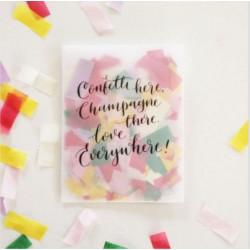 Confettis rectangles pastel