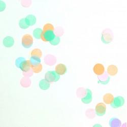Confettis ronds pastel