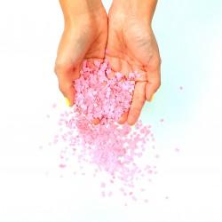 Minis confettis carrés rose