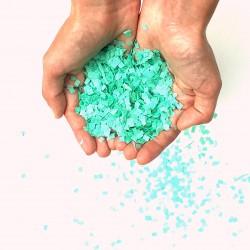 Minis confettis carrés vert d'eau