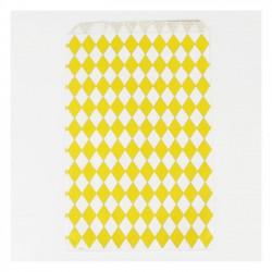 Pochettes papier - losange jaune (par 10)