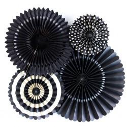 Rosaces rigides noir et blanc (par 4)