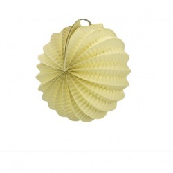 mini lampion rond accordéon - ivoire (20 cm)