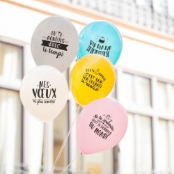 Ballons anniversaire pastel (par 10)