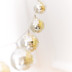 Guirlande boules disco LED
