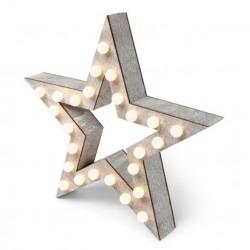 Lampe LED étoiles en bois