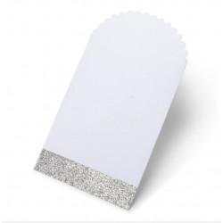 Pochette en papier blanche et argent (par 8)