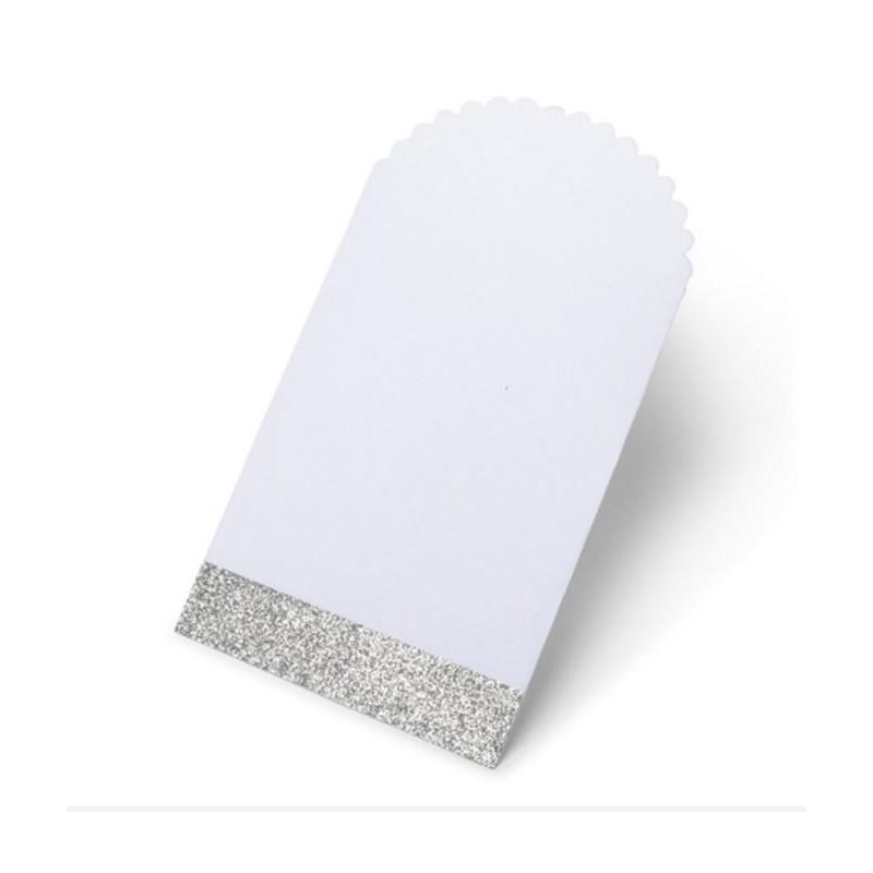 Pochette en papier blanche et argent par 8 modern confetti - Pochette en papier ...