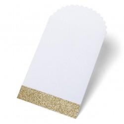 Petite pochette blanc et or (par 8)