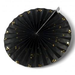 Rosace rigide noire motifs or