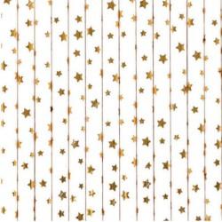 Pailles étoiles dorées métalisées