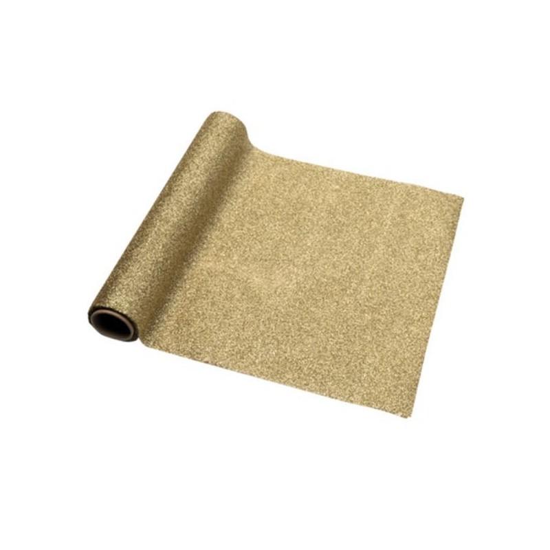 Chemin de table or modern confetti for Chemin de table eurodif