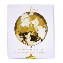 Ballons confetti étoiles or (par 8)