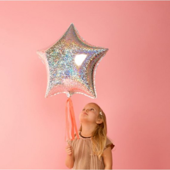 Ballons holographiques étoiles (6 ballons)